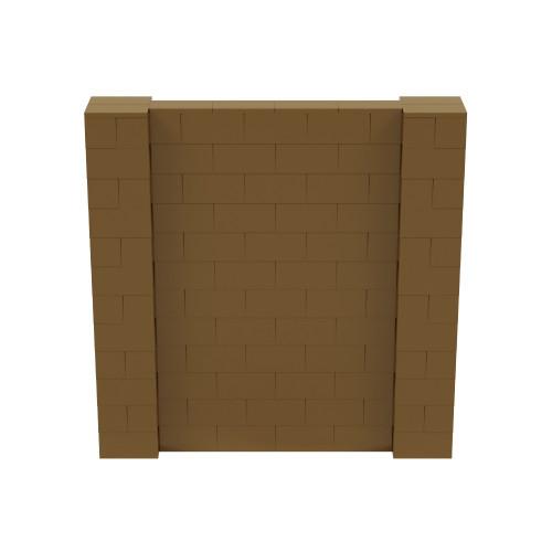 6' x 6' Gold Simple Block Wall Kit