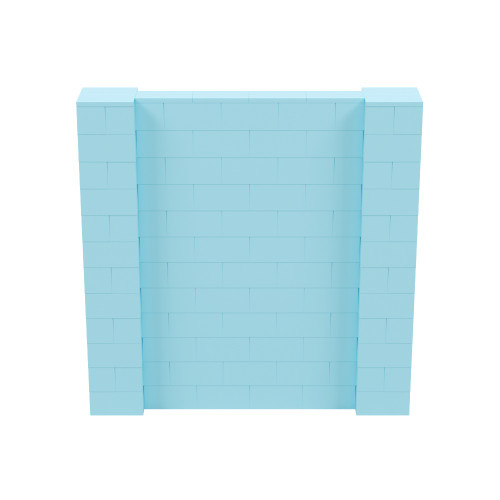 6' x 6' Light Blue Simple Block Wall Kit