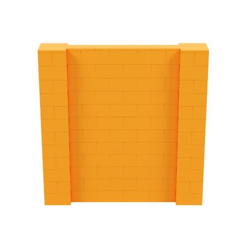 6' x 6' Orange Simple Block Wall Kit