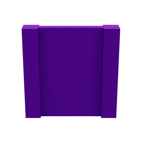 6' x 6' Purple Simple Block Wall Kit