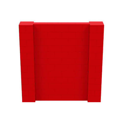 6' x 6' Red Simple Block Wall Kit