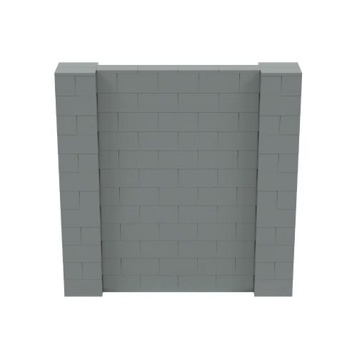 6' x 6' Silver Simple Block Wall Kit