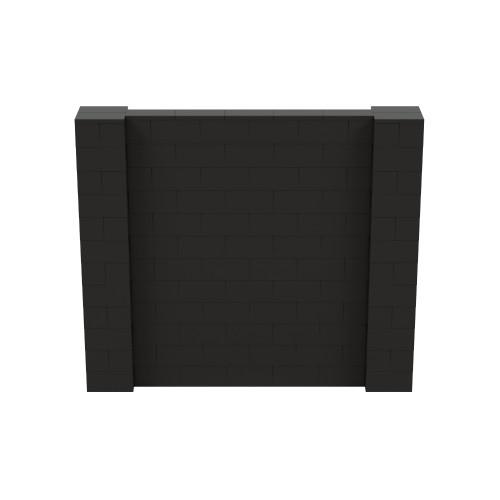 7' x 6' Black Simple Block Wall Kit
