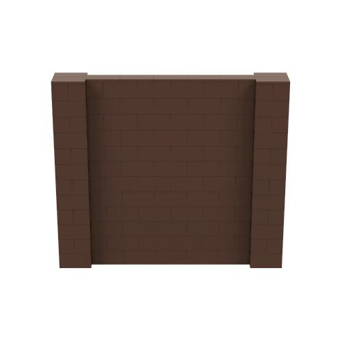 7' x 6' Brown Simple Block Wall Kit