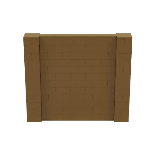7' x 6' Gold Simple Block Wall Kit