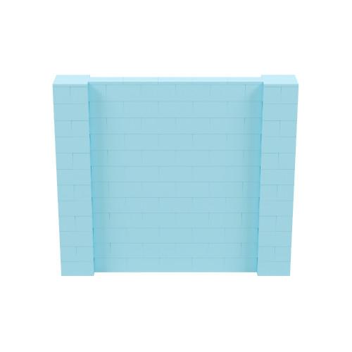 7' x 6' Light Blue Simple Block Wall Kit