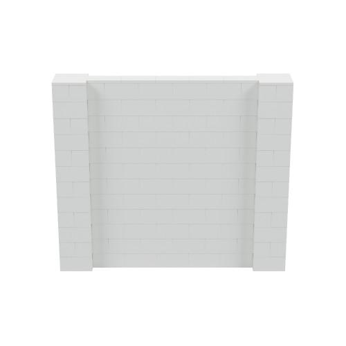 7' x 6' Light Gray Simple Block Wall Kit
