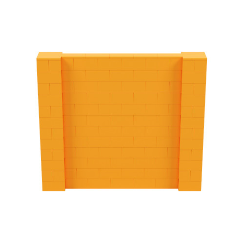 7' x 6' Orange Simple Block Wall Kit