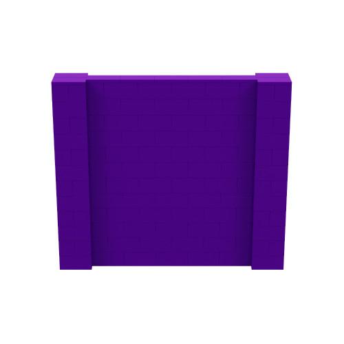 7' x 6' Purple Simple Block Wall Kit