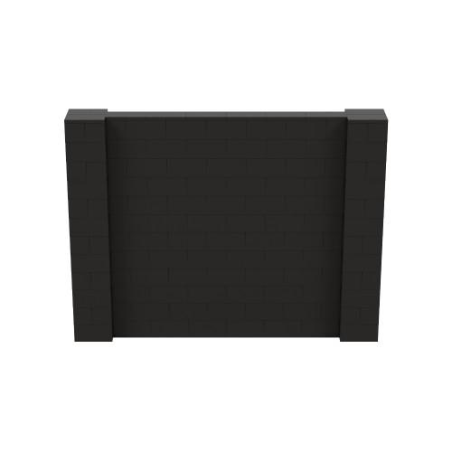 8' x 6' Black Simple Block Wall Kit