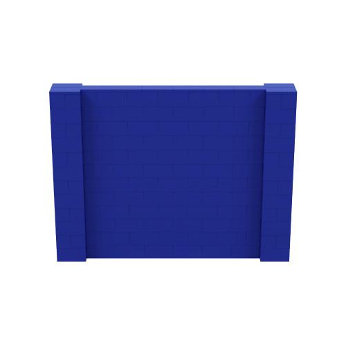 8' x 6' Blue Simple Block Wall Kit