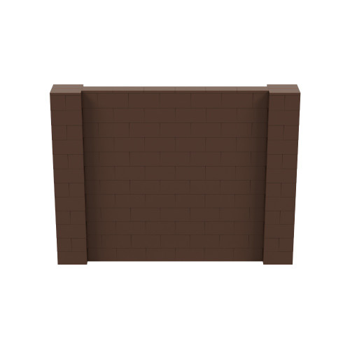 8' x 6' Brown Simple Block Wall Kit