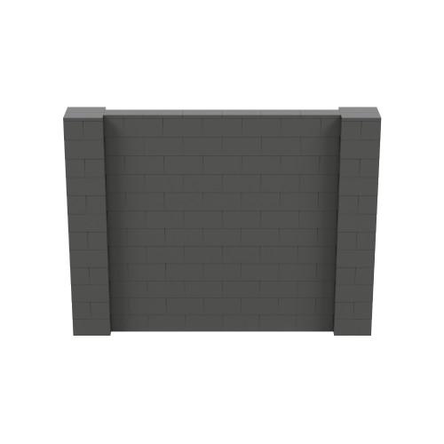 8' x 6' Dark Gray Simple Block Wall Kit