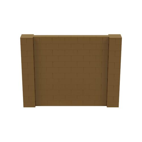 8' x 6' Gold Simple Block Wall Kit