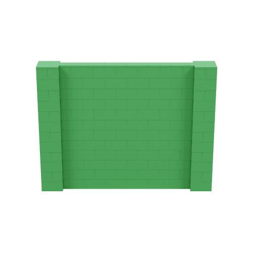 8' x 6' Green Simple Block Wall Kit
