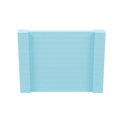 8' x 6' Light Blue Simple Block Wall Kit