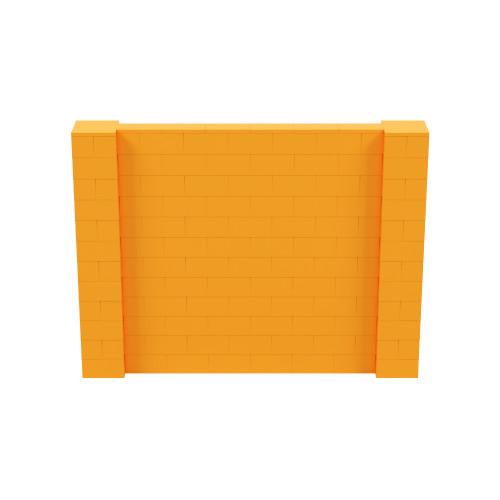 8' x 6' Orange Simple Block Wall Kit
