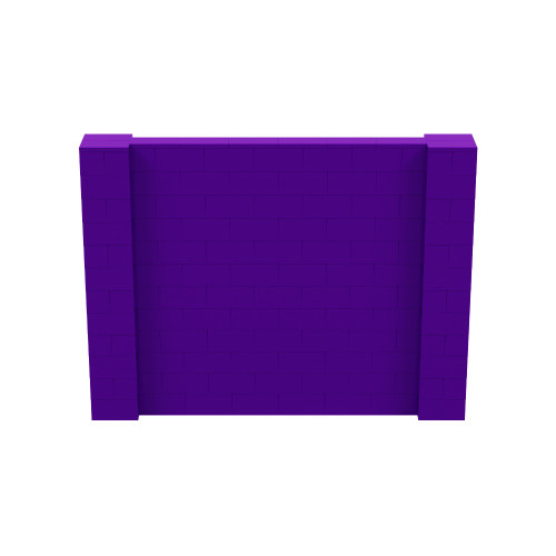 8' x 6' Purple Simple Block Wall Kit
