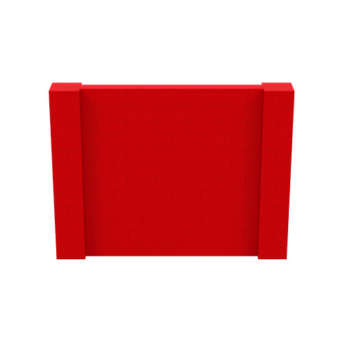 8' x 6' Red Simple Block Wall Kit