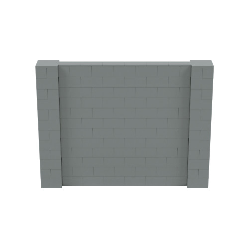 8' x 6' Silver Simple Block Wall Kit