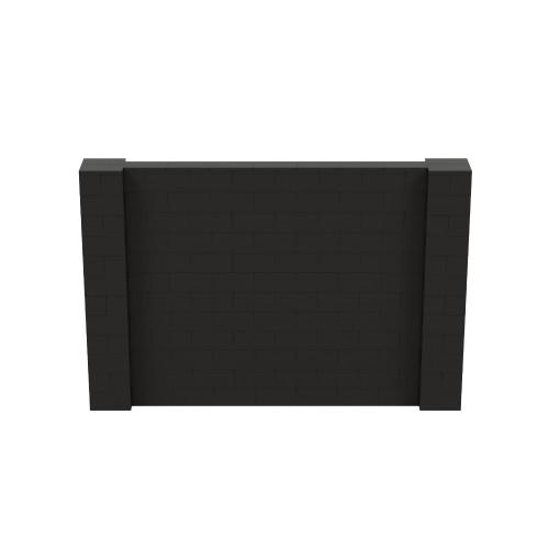 9' x 6' Black Simple Block Wall Kit