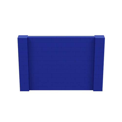 9' x 6' Blue Simple Block Wall Kit