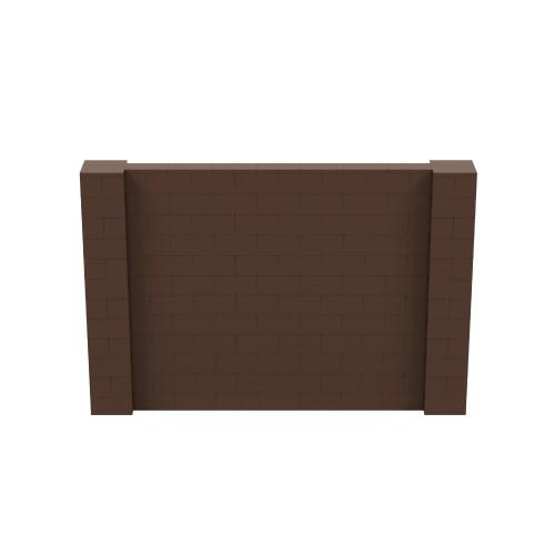 9' x 6' Brown Simple Block Wall Kit