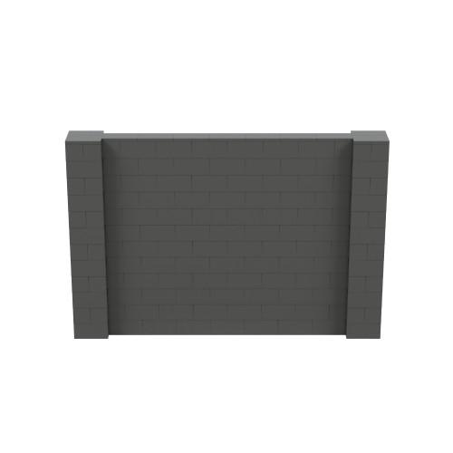 9' x 6' Dark Gray Simple Block Wall Kit