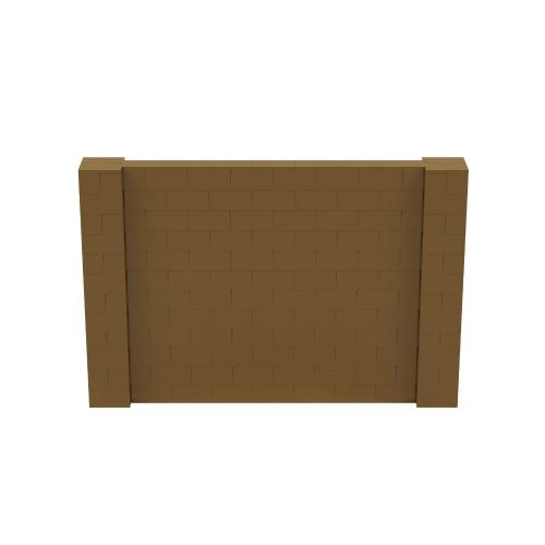 9' x 6' Gold Simple Block Wall Kit