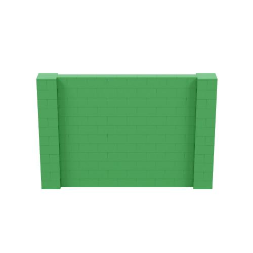 9' x 6' Green Simple Block Wall Kit