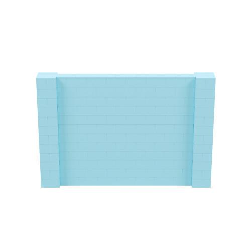9' x 6' Light Blue Simple Block Wall Kit