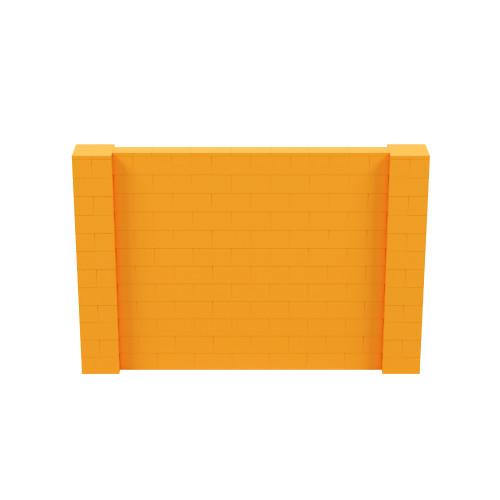 9' x 6' Orange Simple Block Wall Kit