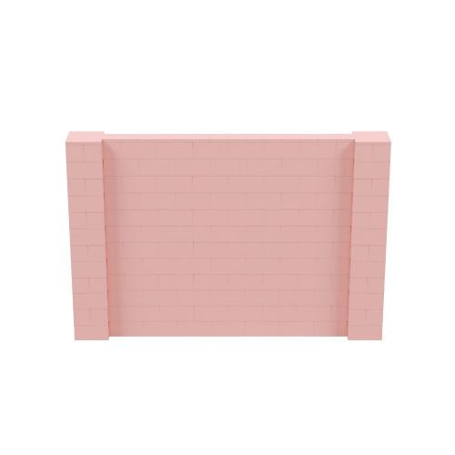 9' x 6' Pink Simple Block Wall Kit