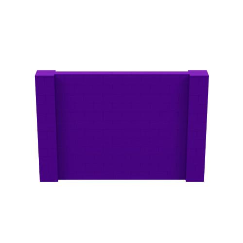 9' x 6' Purple Simple Block Wall Kit