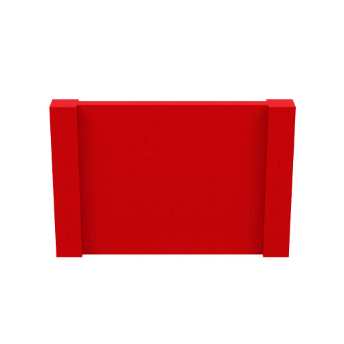 9' x 6' Red Simple Block Wall Kit