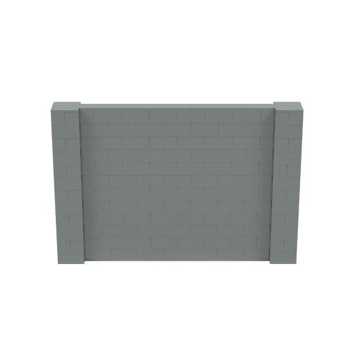 9' x 6' Silver Simple Block Wall Kit