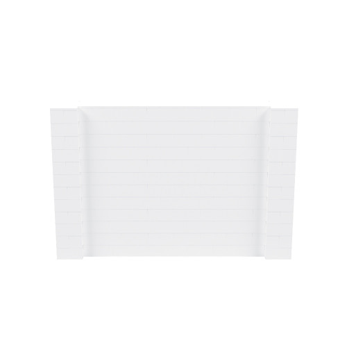 9' x 6' White Simple Block Wall Kit