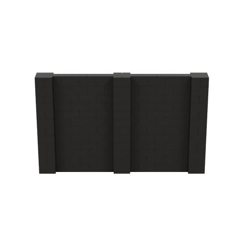 10' x 6' Black Simple Block Wall Kit