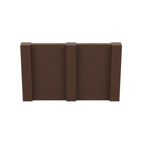 10' x 6' Brown Simple Block Wall Kit