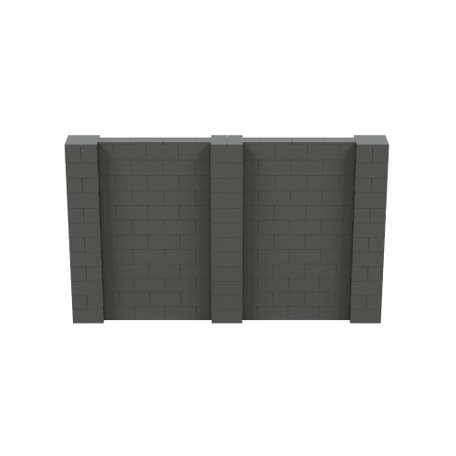 10' x 6' Dark Gray Simple Block Wall Kit