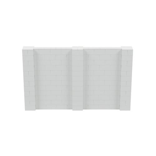 10' x 6' Light Gray Simple Block Wall Kit