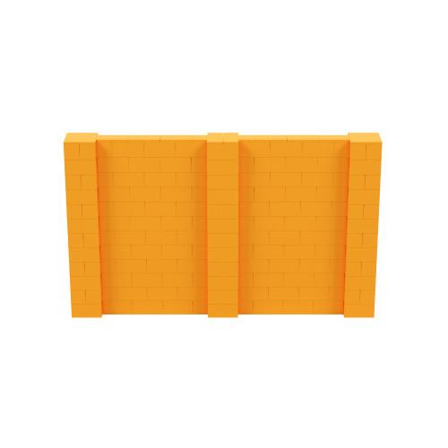 10' x 6' Orange Simple Block Wall Kit