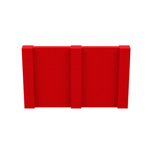 10' x 6' Red Simple Block Wall Kit