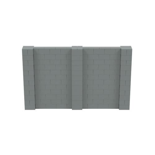 10' x 6' Silver Simple Block Wall Kit