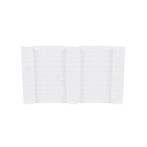 10' x 6' White Simple Block Wall Kit