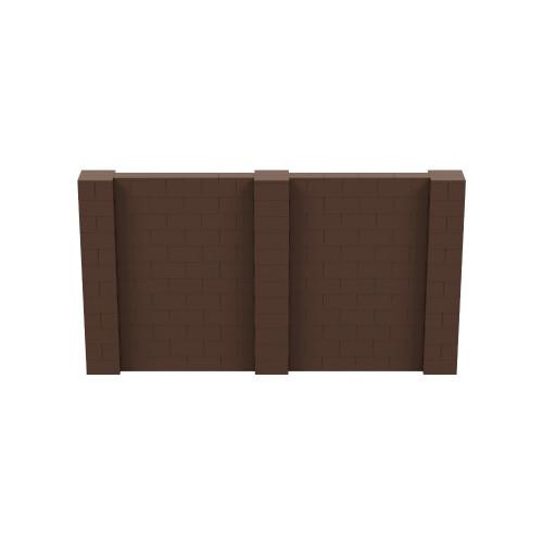 11' x 6' Brown Simple Block Wall Kit