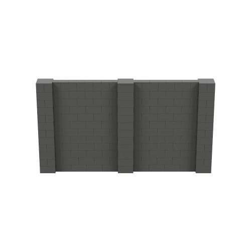 11' x 6' Dark Gray Simple Block Wall Kit