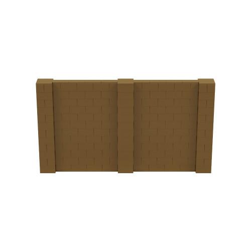 11' x 6' Gold Simple Block Wall Kit