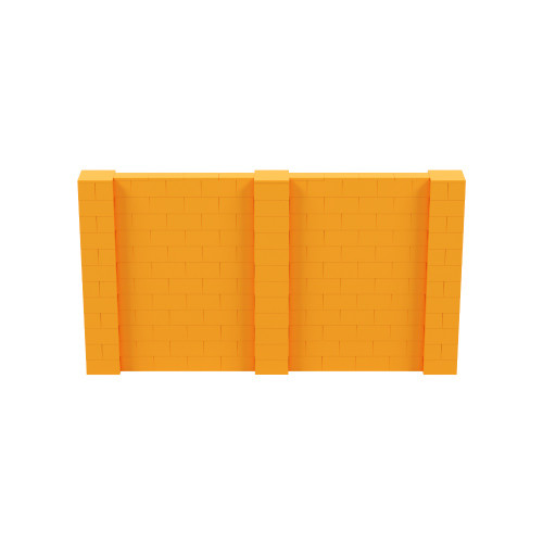11' x 6' Orange Simple Block Wall Kit