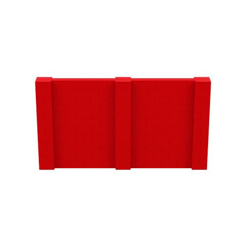 11' x 6' Red Simple Block Wall Kit